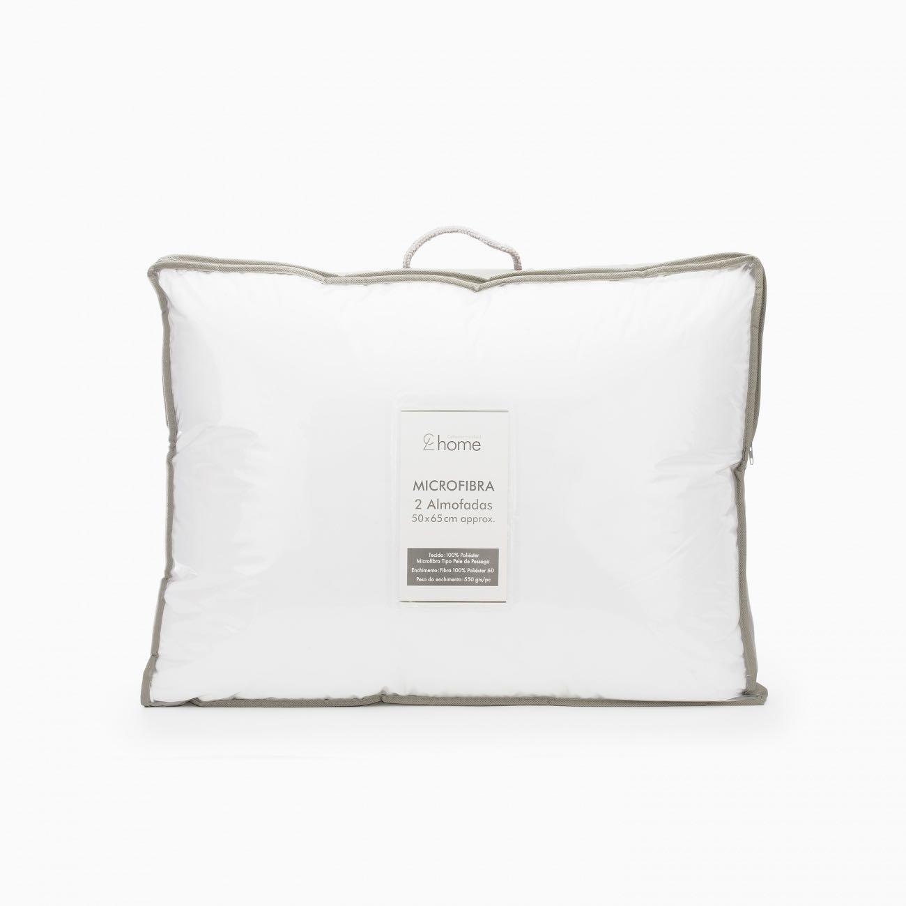 Par Enchimento Almofada Microfibra Branco 50x65 cm Branco Catherine Lansfield
