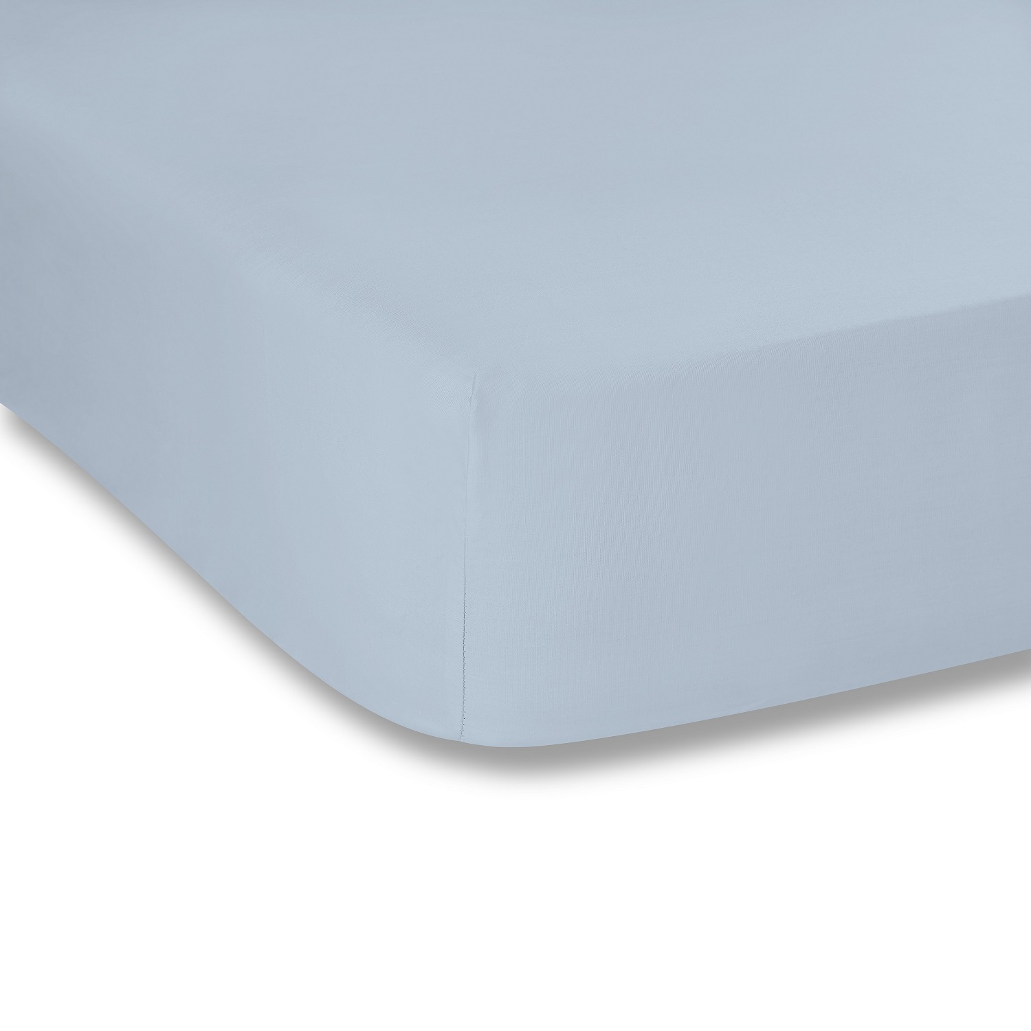 Soft Plain Dye Fitted Sheet Blue