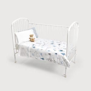 Nordic Capa de Edredão Bebé Azul