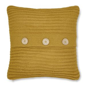 Chunky Knit Capa de Almofada Ochre Catherine Lansfield