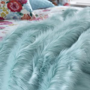 Metallic Fur Manta Azul Catherine Lansfield