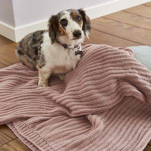 Chunky Knit Manta Blush Catherine Lansfield