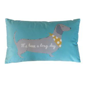 Silly Sausage Dog Almofada Azul Catherine Lansfield