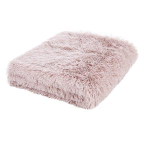 Cuddly Shaggy Manta Blush Pink Catherine Lansfield