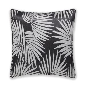 Glam Palm Tree Capa de Almofada Preto Catherine Lansfield